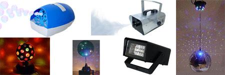 световые приборы. дискошары. оборудование для дискотек. генераторы спец.эффектов. дым машина