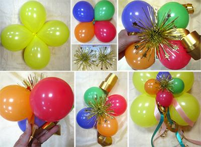 Как из воздушных шариков сделать цветы